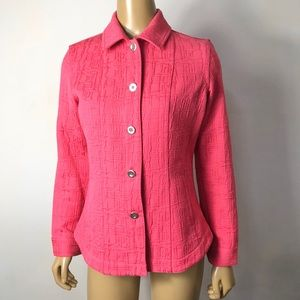 Additions by Chico's pink button front jacket